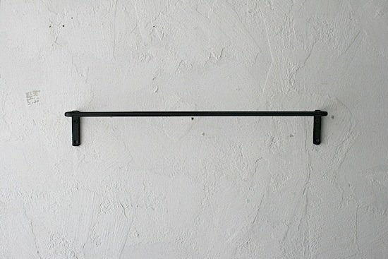 アイアン壁付けタオルハンガー / 45.5cm / 黒