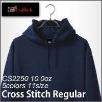 クロスステッチ【CROSS STITCH】10ozレギュラープルオーバーパーカー裏毛(Jr.S〜Jr.L)