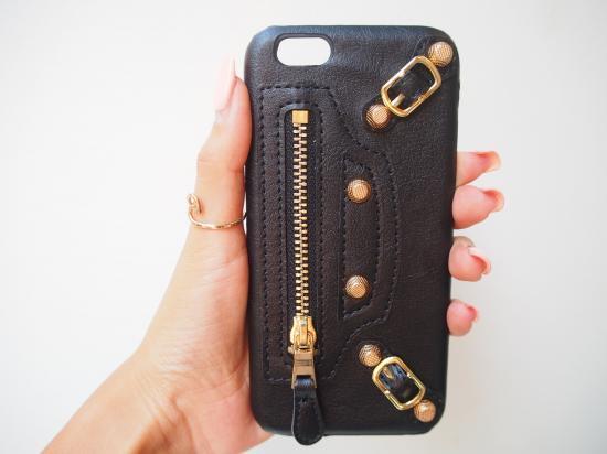 財布型 iPhoneケース ブラック 合皮 apple iPhone6 6s★