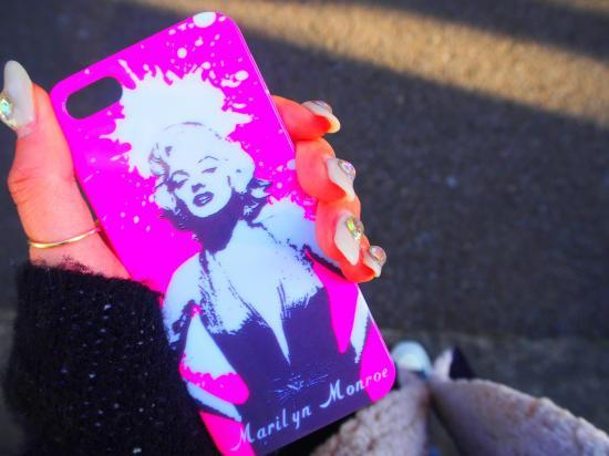 ★Marilyn Monroe (マリリンモンロー) ネオンカラー  ピンク iPhoneケース カバー iPhone5専用
