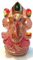 ローズクォーツ×ガネーシャ神[広く世界中で人気のあるインドの神様]