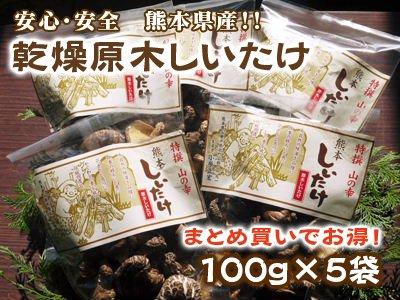 大変お得なまとめ買い!!!  乾燥原木しいたけ(100g×5袋)