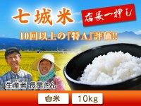 七城米 長尾さんこだわりのお米(ひのひかり) 白米10kg(5kg×2袋)