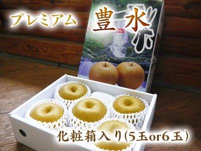 樹上完熟熊本梨『プレミアム豊水』化粧箱入り(5玉or6玉)