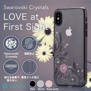 Devia iPhone X 用 フラワーモチーフとスワロフスキーが輝くクリスタルケース/Crystal Petunia case