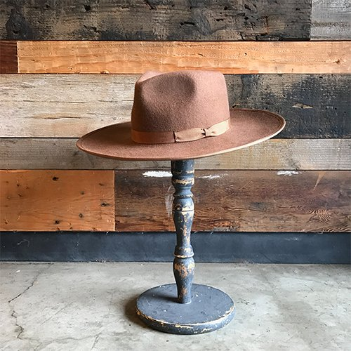 BRIXTON #HOMESTEAD FEDORA -Tan/Bronze