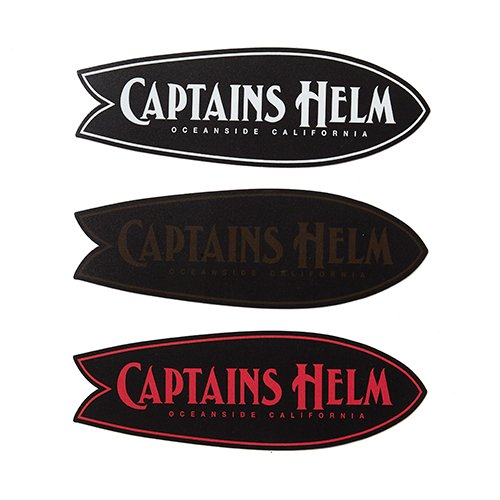 CAPTAINS HELM #FISH MAGNET STICKER