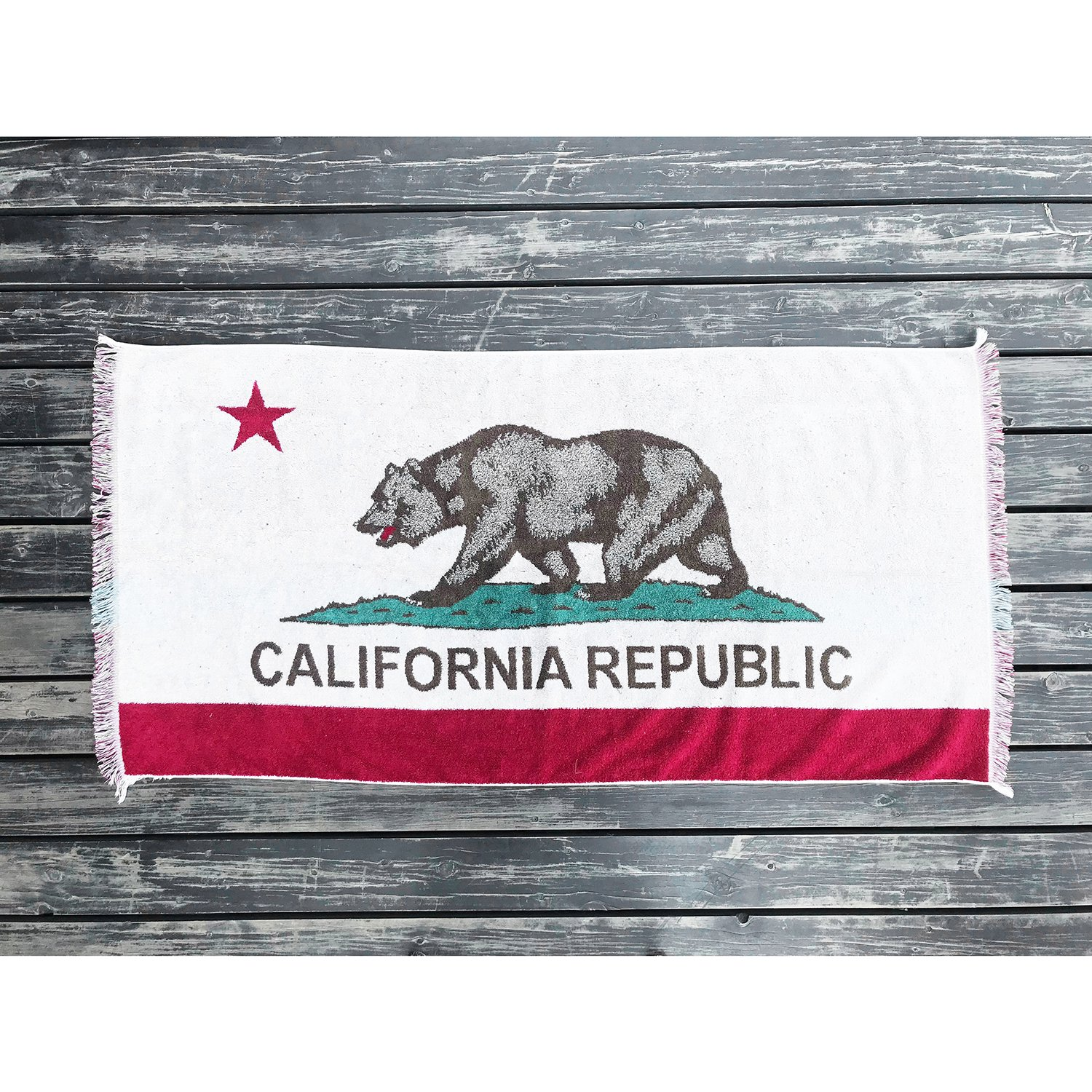 CAPTAINS HELM Select #CALIFORNIA FLAG BEACH BLANKET