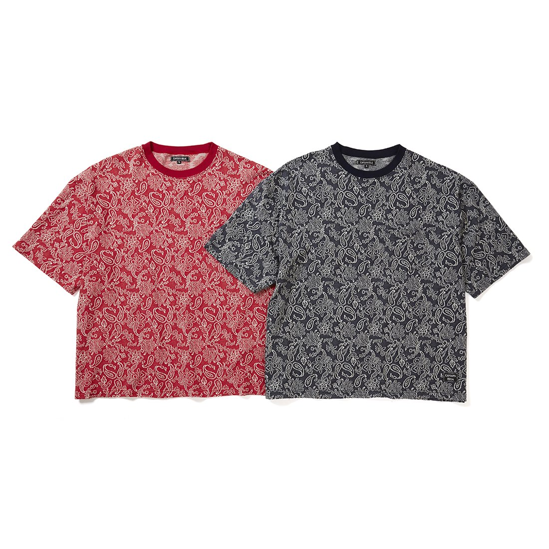 CAPTAINS HELM #JACQUARD PAISLEY BIG POCKET TEE