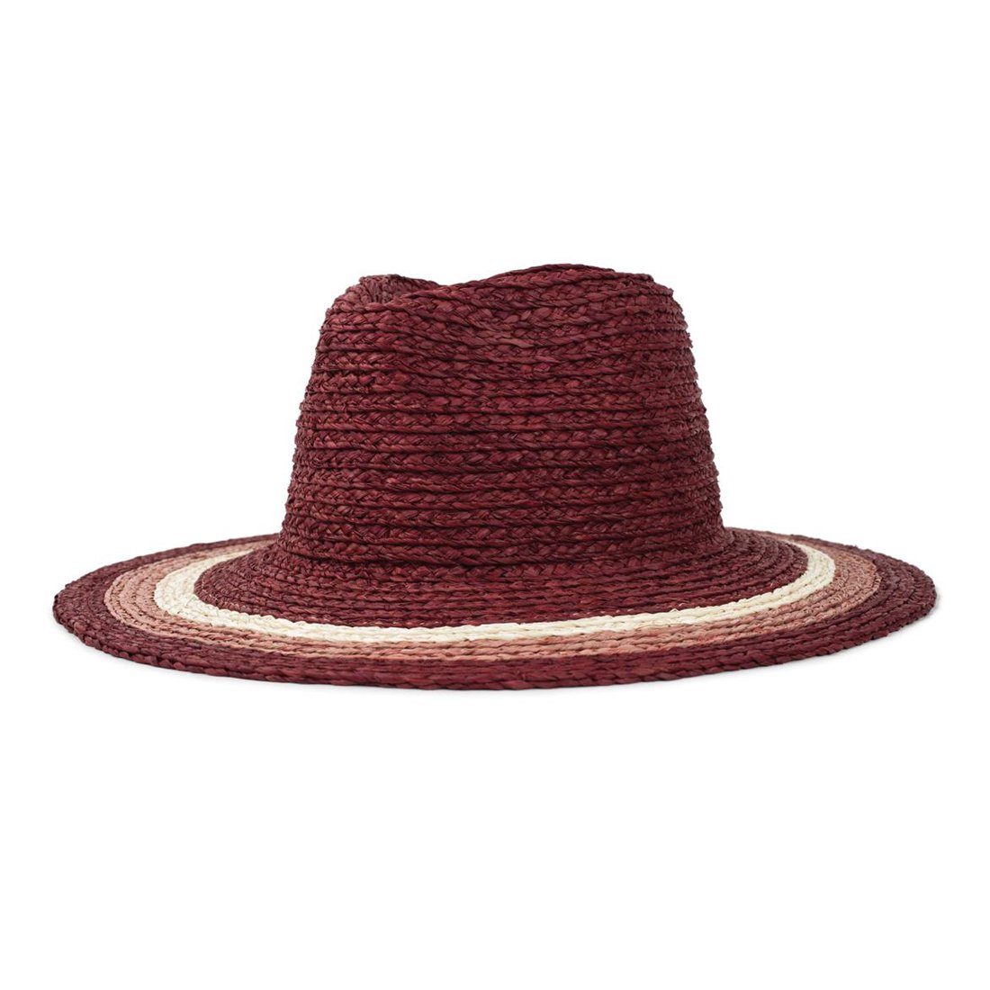 BRIXTON #HAMPTON FEDORA -RED/BLUSH/TAN (Women's)