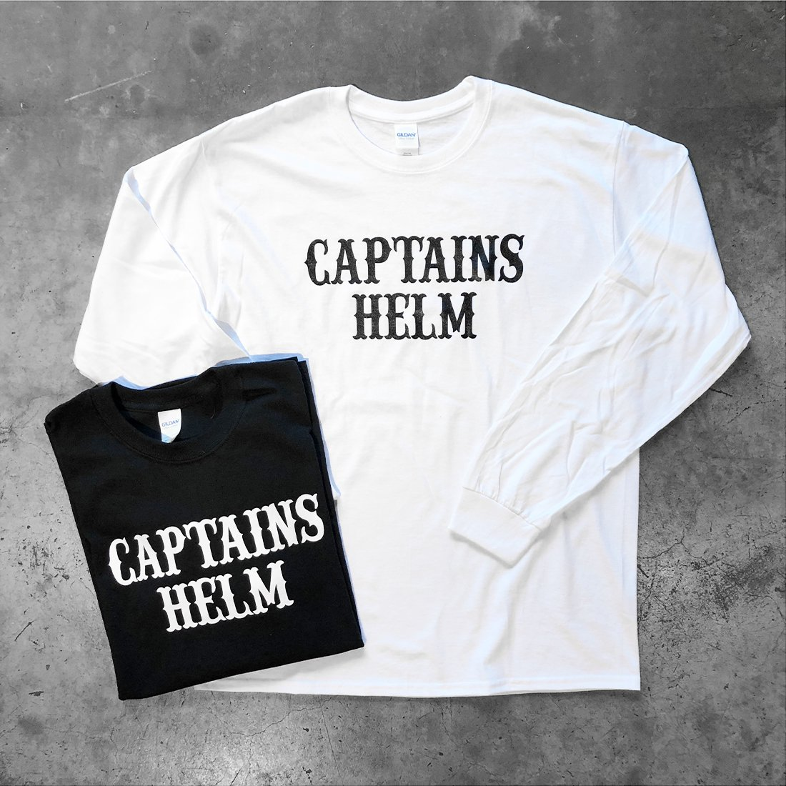 CAPTAINS HELM #LOCALS LOGO L/S TEE