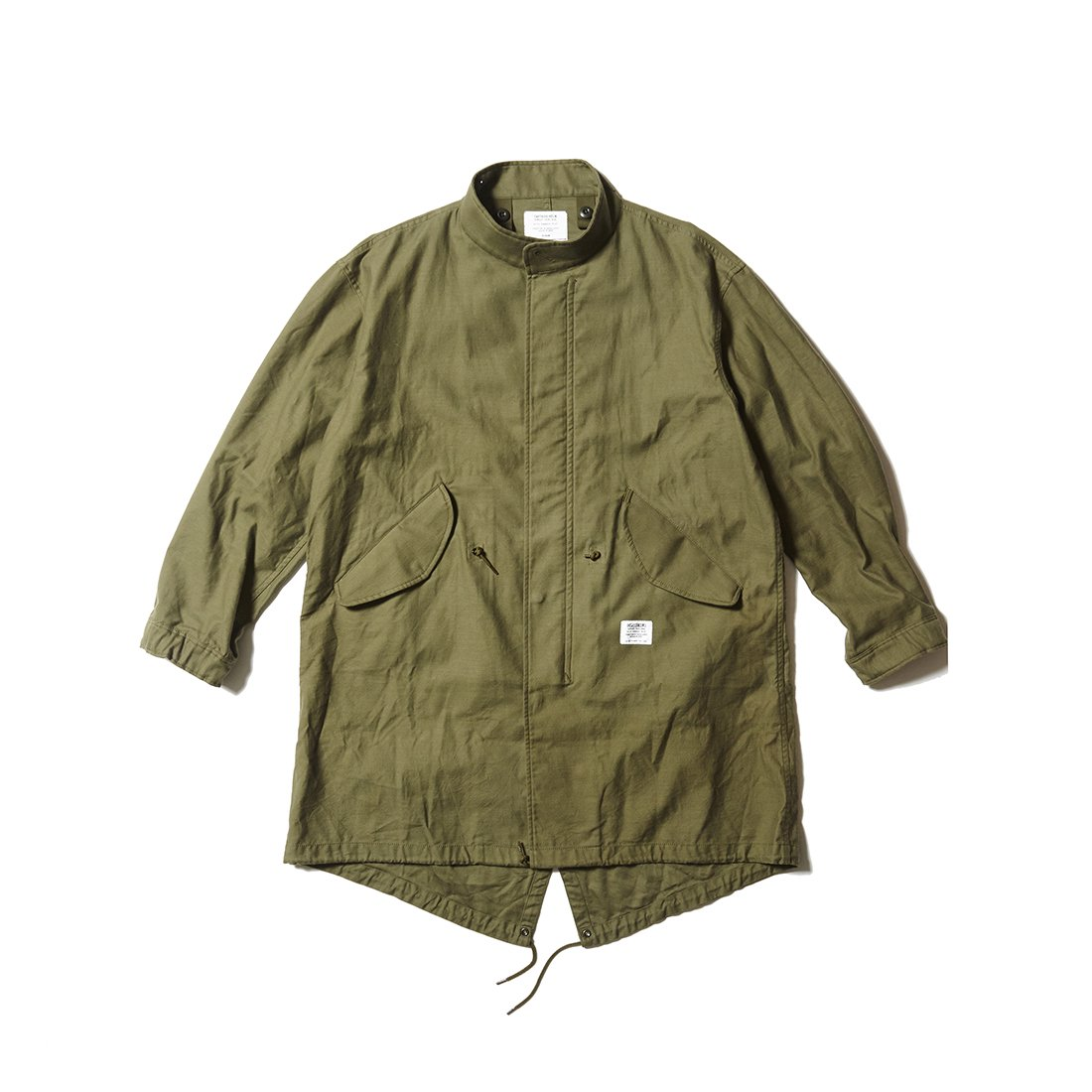 CAPTAINS HELM #FISH TAIL MILITARY JKT -SOLID
