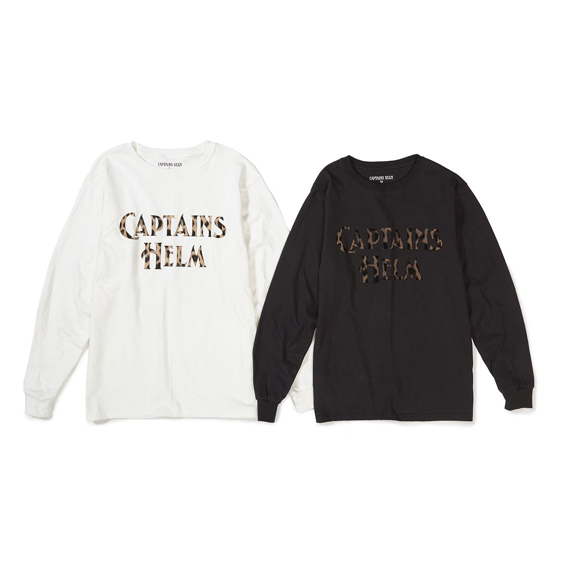 CAPTAINS HELM #LEOPARD LOGO L/S TEE