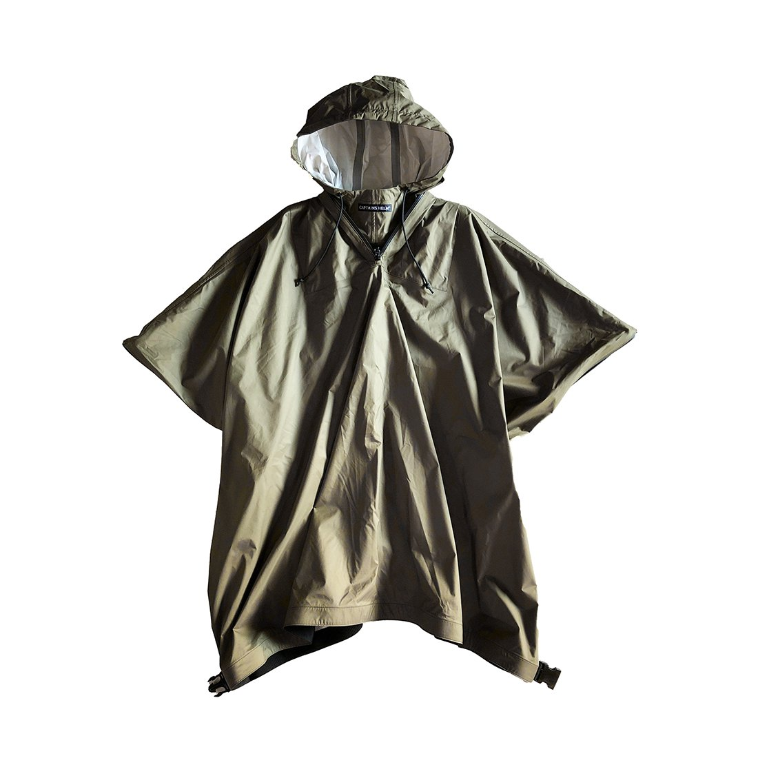 【受注生産ITEM】CAPTAINS HELM #WATER PROOF RAIN PONCHO -OLIVE