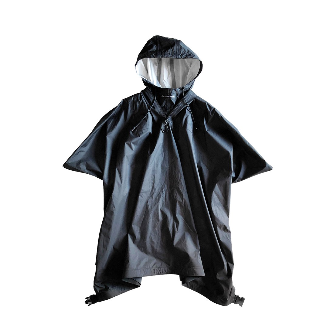 【受注生産ITEM】CAPTAINS HELM #WATER PROOF RAIN PONCHO -BLACK