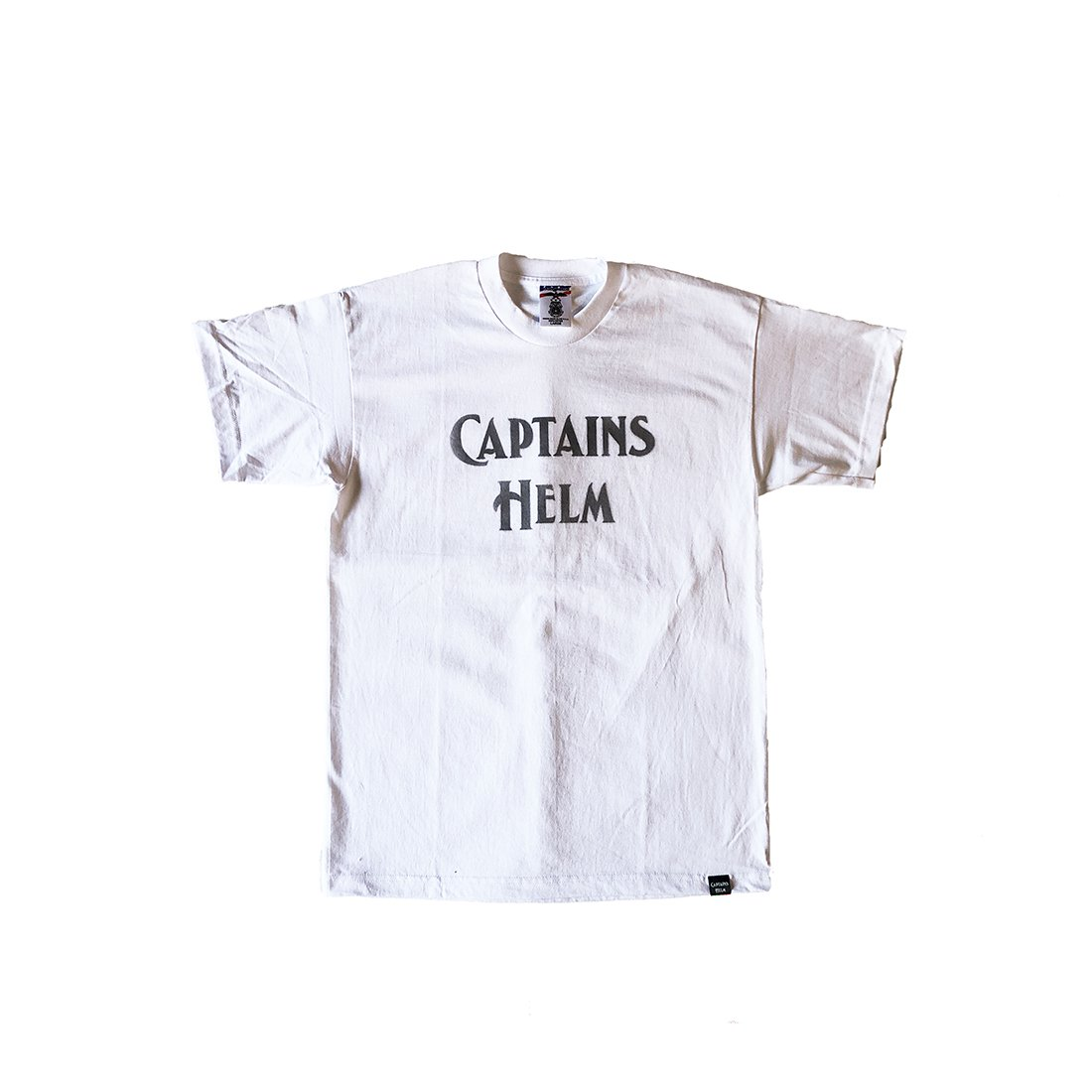 CAPTAINS HELM #USA MADE LOGO TEE -Stencil