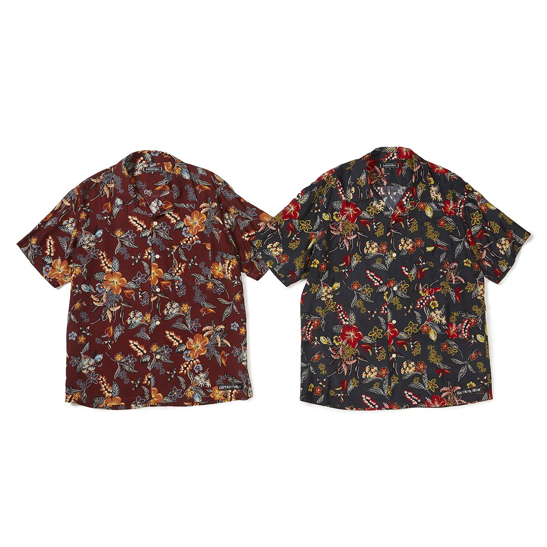 CAPTAINS HELM #HAWAIIAN SS SHIRTS