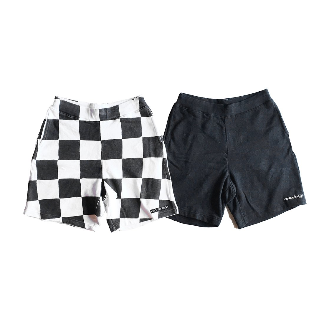 CAPTAINS HELM #CHECKER  SWEAT SHORTS