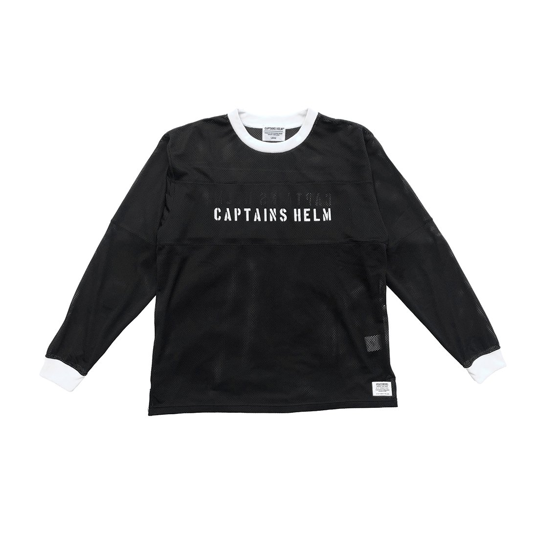 CAPTAINS HELM #2TONE MESH L/S TEE -CHT Limited Color