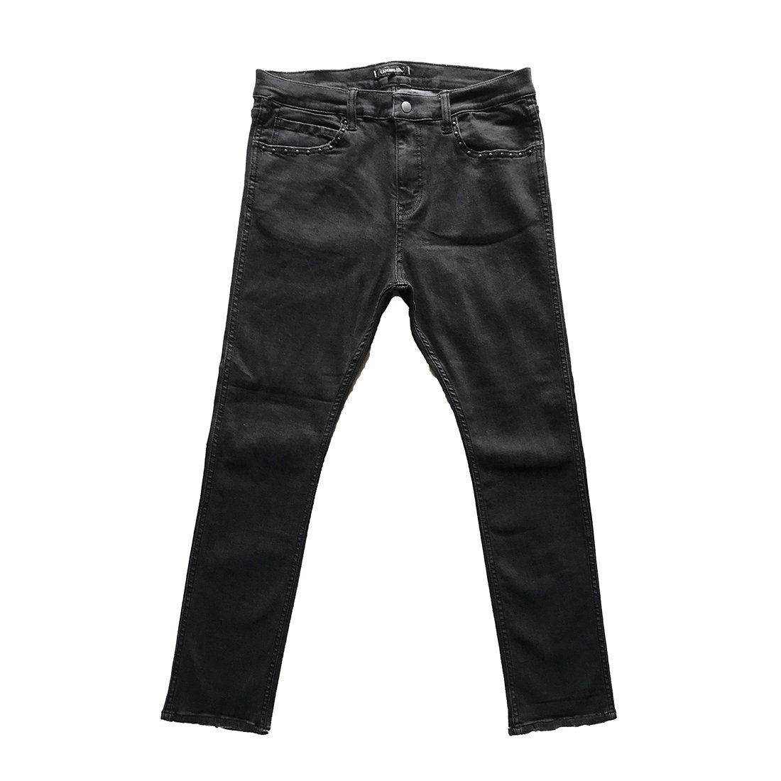 CAPTAINS HELM #NARROW ST BLACK DENIM PANTS