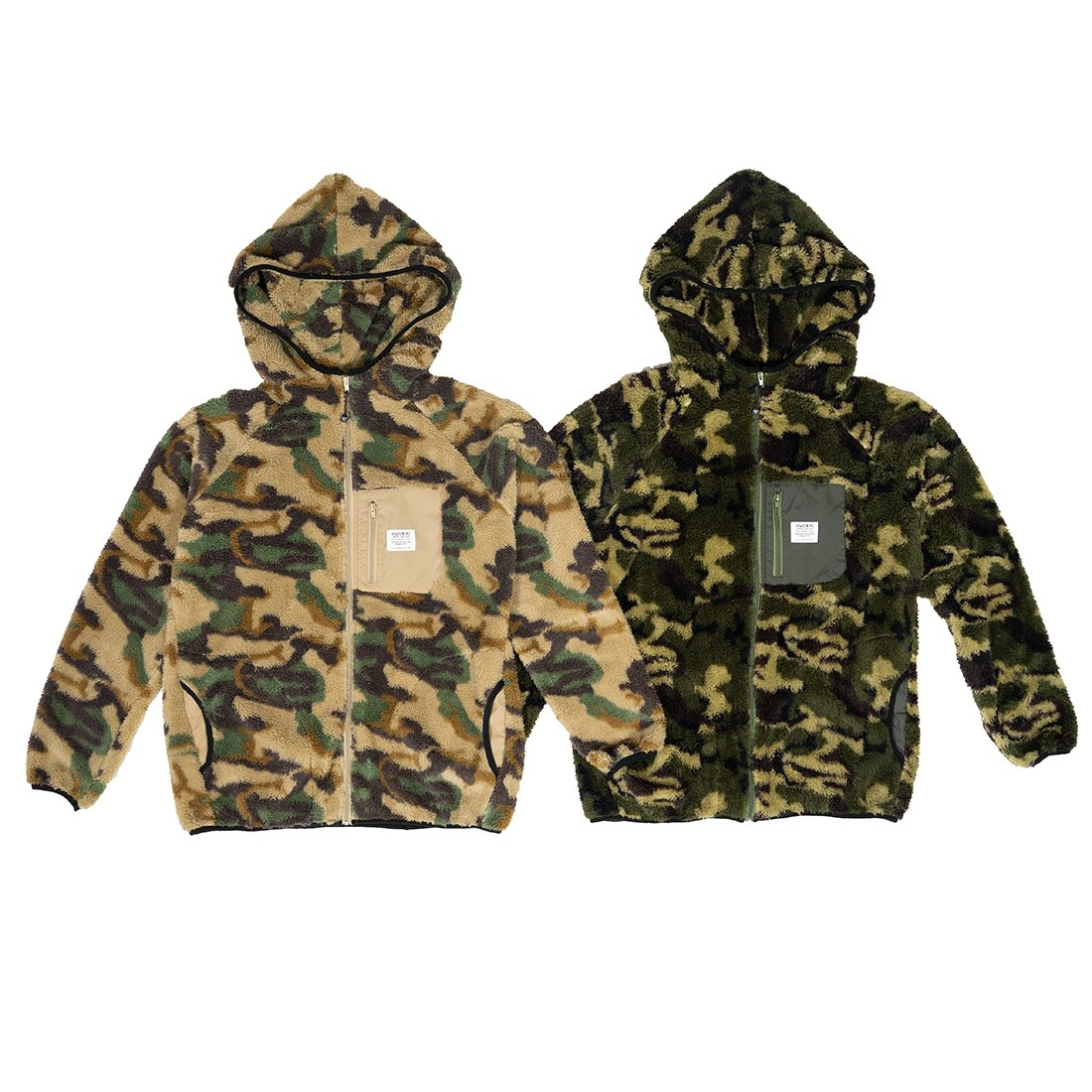 CAPTAINS HELM #CAMO FLEECE HOOD JACKET