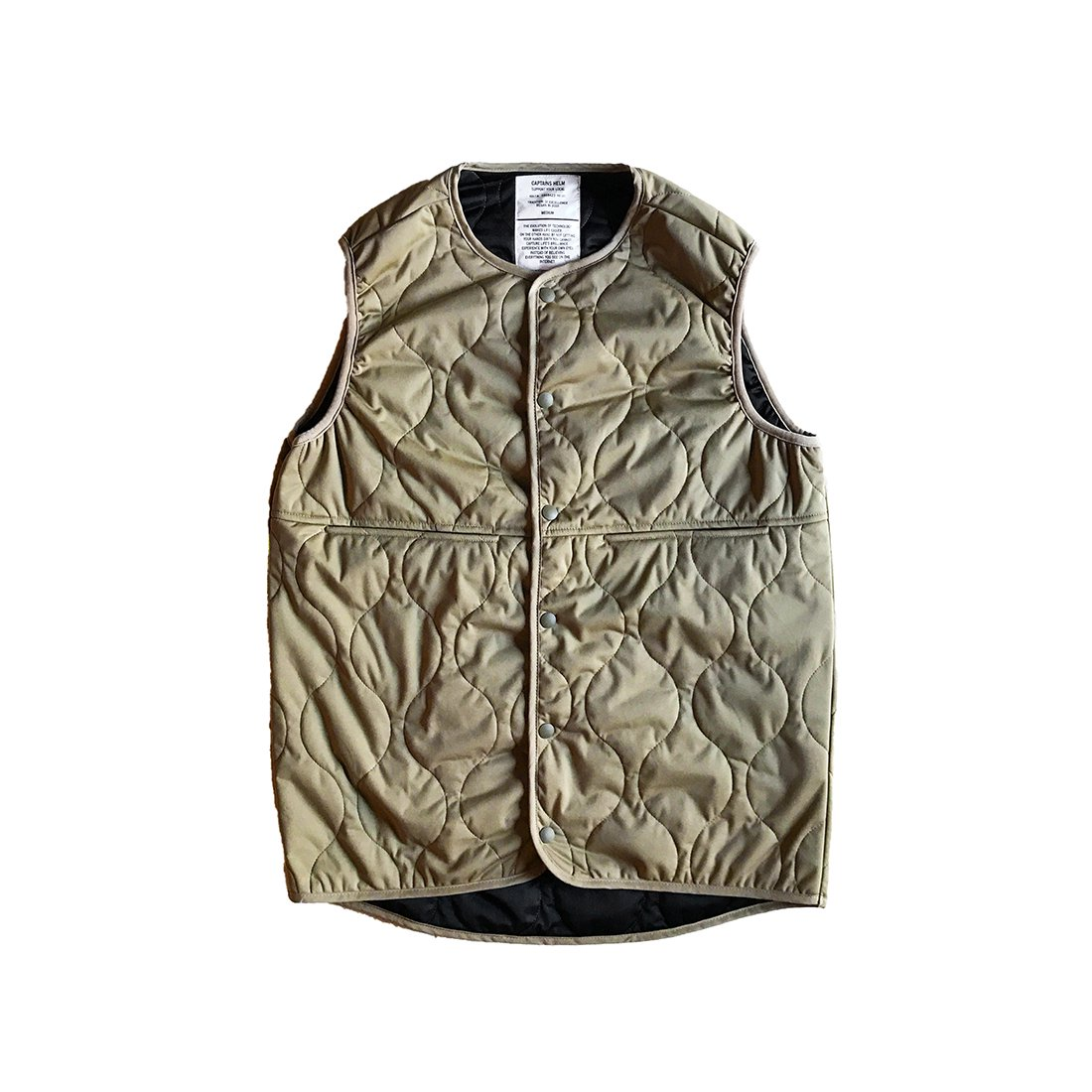 CAPTAINS HELM #Thinsulate LEVEL5 VEST -Beige