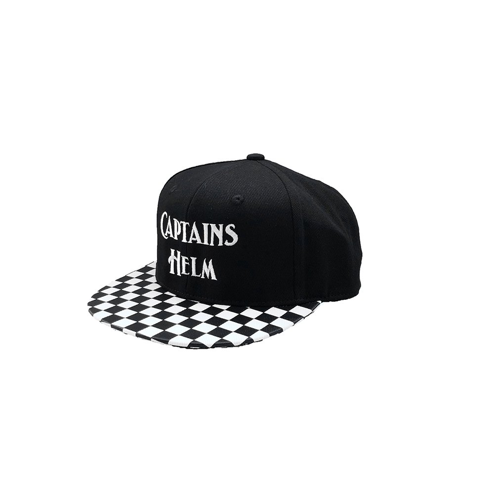 CAPTAINS HELM #CHECKER BRIM LOGO SNAP BACK