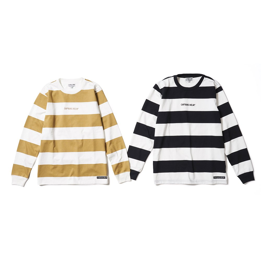 CAPTAINS HELM #TRADEMARK BORDER L/S TEE