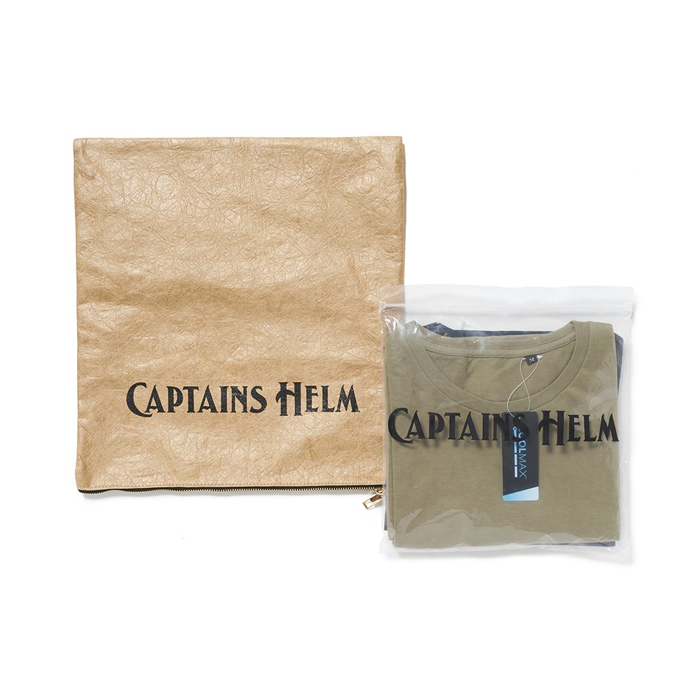 CAPTAINS HELM #2PACK TEE -BLK/OLV