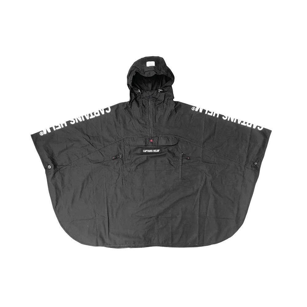GRIP SWANY × CAPTAINS HELM #FIREPROOF PONCHO -BLACK