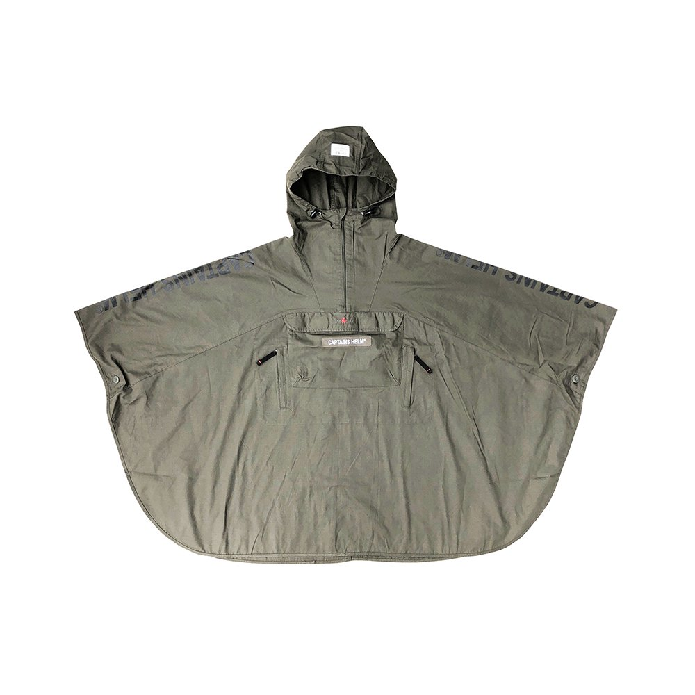 GRIP SWANY × CAPTAINS HELM #FIREPROOF PONCHO -OLIVE