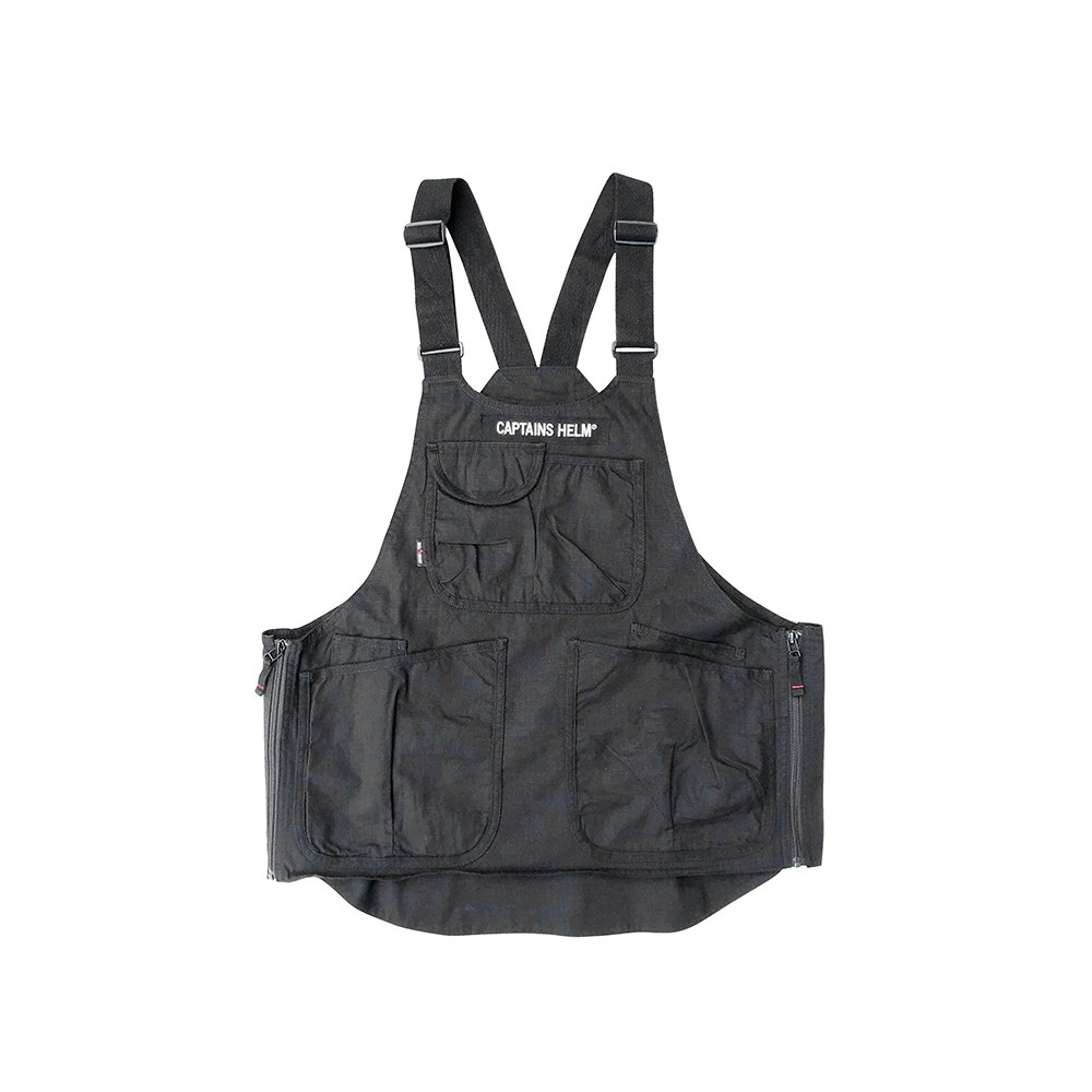 GRIP SWANY × CAPTAINS HELM #FIREPROOF APRON VEST -BLACK