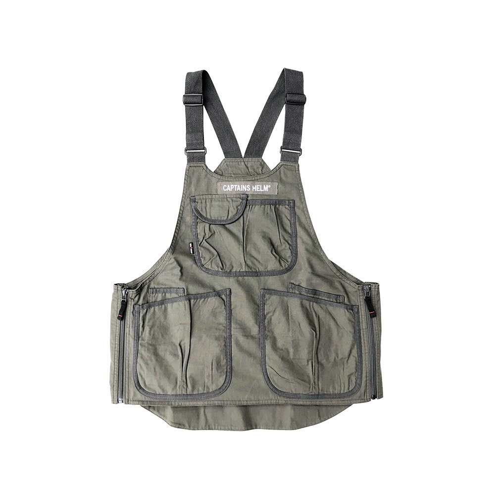 GRIP SWANY × CAPTAINS HELM #FIREPROOF APRON VEST -OLIVE