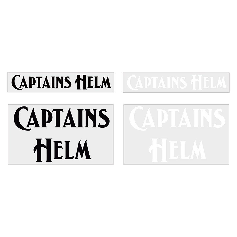 CAPTAINS HELM #CUTTING LOGO STICKER SET