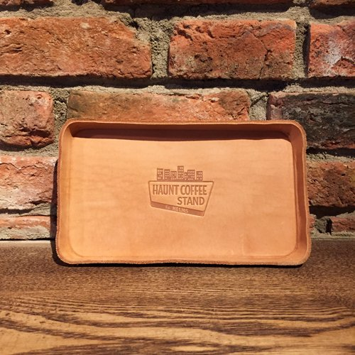 HAUNT COFFEE STAND by HELMS × Heritage Leather Co. #LEATHER TRAY