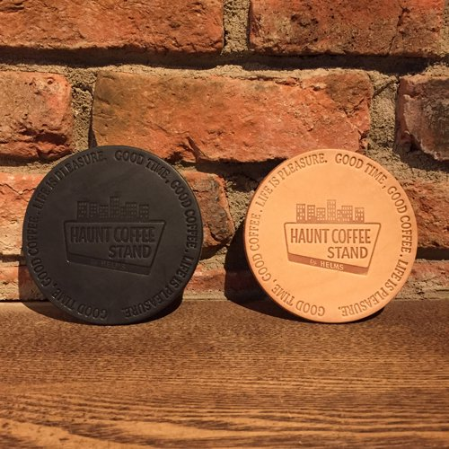 HAUNT COFFEE STAND by HELMS × Heritage Leather Co. #LEATHER COASTER