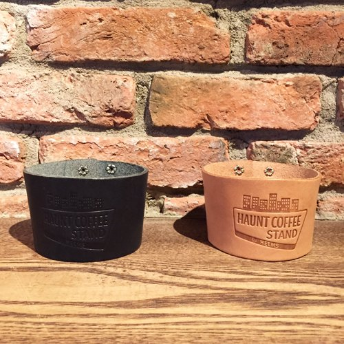 HAUNT COFFEE STAND by HELMS × Heritage Leather Co. #LEATHER SLEEVE