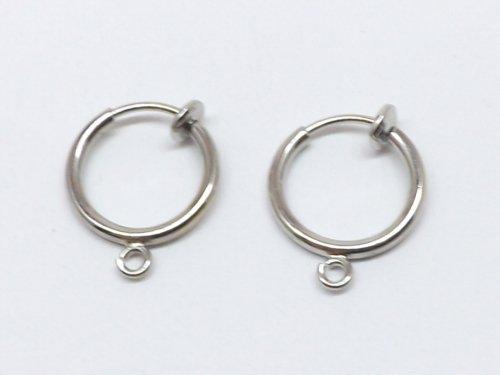 バネ式フープイヤリング(ノンホールピアス) 1ペア入り p-0784