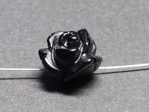 薔薇の彫刻パーツ オニキス 10mm/12mm/14mm