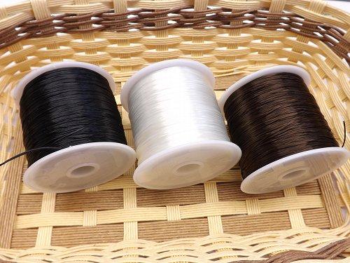 ブレス用 カラーオペロンゴム 黒・白・茶 各70m巻