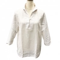 GUY ROVER 【ギ・ローバー】 『CAMICIA LAV』 コットンバスケット・カプリシャツ (White)<img class='new_mark_img2' src='https://img.shop-pro.jp/img/new/icons41.gif' style='border:none;display:inline;margin:0px;padding:0px;width:auto;' />