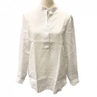 GUY ROVER 【ギ・ローバー】 『CAMICIA LAV』 リネン・フリンジヘム・チュニック (White)<img class='new_mark_img2' src='https://img.shop-pro.jp/img/new/icons41.gif' style='border:none;display:inline;margin:0px;padding:0px;width:auto;' />