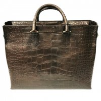 ORCIANI 【オルチアーニ】 TOTE BAG KENYA 00676 クロコ型押トートバッグ (T.MORO)
