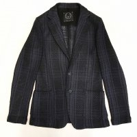 T-Jacket 【ティー・ジャケット】 シャドーチェック・メッシュニットジャケット (Moody Blue)<img class='new_mark_img2' src='//img.shop-pro.jp/img/new/icons41.gif' style='border:none;display:inline;margin:0px;padding:0px;width:auto;' />