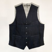 NICWAVE 【ニックウェーブ】『Gilet Anquetil』ウールホップサック・ベスト(ジレ)(Blu)<img class='new_mark_img2' src='//img.shop-pro.jp/img/new/icons41.gif' style='border:none;display:inline;margin:0px;padding:0px;width:auto;' />