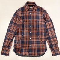 GUY ROVER 【ギ・ローバー】 コットンフランネル・シャツジャケット (Salmon×Navy Check)<img class='new_mark_img2' src='//img.shop-pro.jp/img/new/icons41.gif' style='border:none;display:inline;margin:0px;padding:0px;width:auto;' />