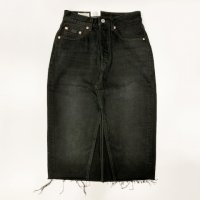 Levi's 【リーバイス】 『DECONSTRUCTED MIDI SKIRT』 デニムタイトスカート(Black Mark Skirt)