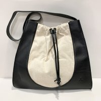 nice things (Paloma S) 【ナイス・シングス】『Gathered Hobo Bag』 ギャザード・ホーボーバッグ (Black×Natural)<img class='new_mark_img2' src='https://img.shop-pro.jp/img/new/icons41.gif' style='border:none;display:inline;margin:0px;padding:0px;width:auto;' />