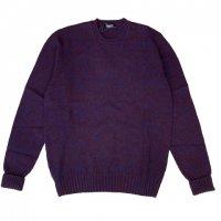 Drumohr 【ドルモア】 ミドルゲージ・ジーロンラムズウール・メランジクルーネック(Melange Purple)