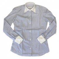 Fralbo 【フラルボ】 『SARA』4HAND ポプリン・ワイドスプレット・クレリックシャツ (White)